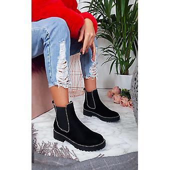 IKRUSH Womens Tarra finto camoscio tacco stivali