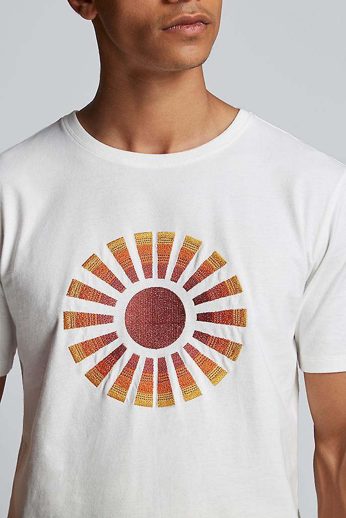 Hymn Rays Sun Embroidery Tee White