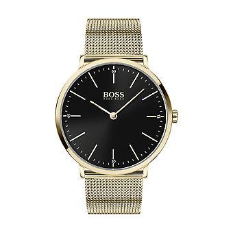 Hugo Boss Uhr 1513735 - Horizon Steel Case Dor black Dial Milanese Mesh Steel Armband Dor Homme