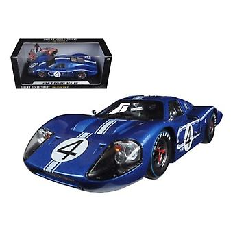 1967 Ford Gt Mk Iv #4 Blue Lemans 24 Hours L.Ruby / D.Hulme 1/18 Diecast Model Car By Shelby Collectibles