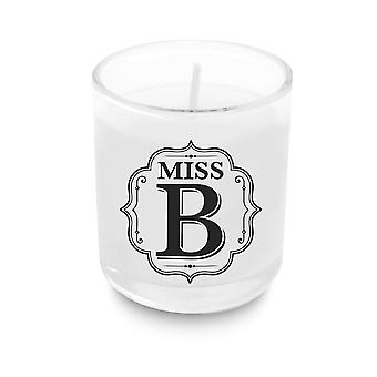 Heart & Home Alphabet Votive Candle - Miss B