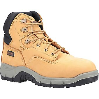 Magnum Mens Precision Sitemaster Composite Toe Safety Boots Honey