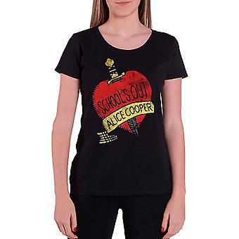 Alice Cooper T Shirt Schools Out Official Womens black Skinny fit
