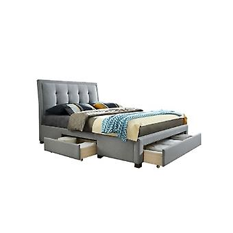 135CM SHELBY FABRIC BED GREY