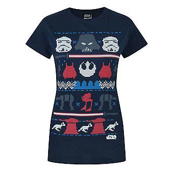 Star Wars Dark Side Fair Isle Christmas Women's T-Shirt