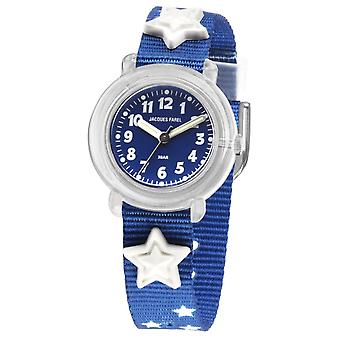 JACQUES FAREL Kids Wristwatch Analog Quartz Textile Ribbon KPA 1000 Stars