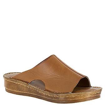 Bella Vita Women's Mae-Italy Slide Sandal,Tan Leather,US 7.5 W