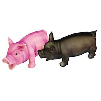 Freedog 17cm piggy pink or black (authentic sound) (Dogs , Toys & Sport , In latex)