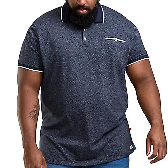 Duke D555 Mens Jakeman Big Tall King Size Striped Casual Polo Shirt Top - Navy