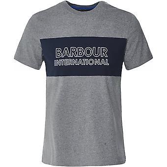 Barbour International Crew Neck Logo Panel T-Shirt