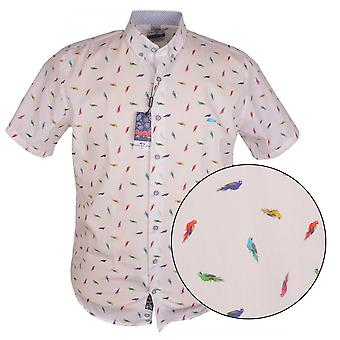 DARIO BELTRAN Dario Beltran Parrot Imprimer Short Sleeve Shirt