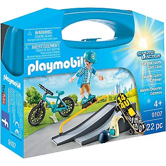 Playmobil 9107 Sports & Action Small Extreme Sports Carry Case 22PC Playset