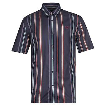 Fred Perry Stripe Navy Shirt