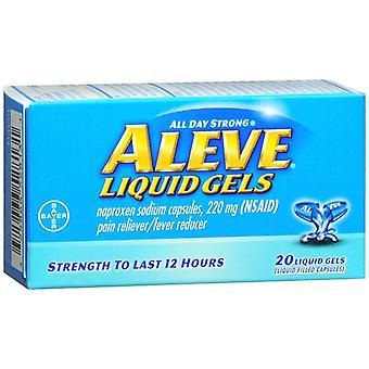 Aleve durere reliever/febră reductor, geluri lichide, 20 ea