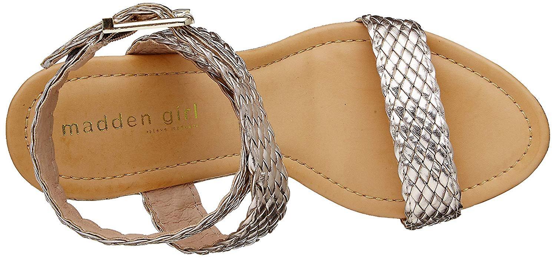 Madden Girl Women's NARLA Espadrille Wedge Sandal, Rose Gold, 8.5 M US