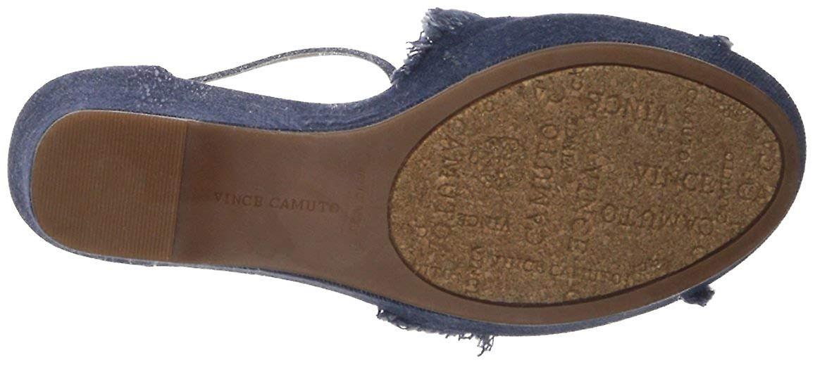 Vince Camuto kvinders Tatchen læder åben tå Casual ankel rem sandaler