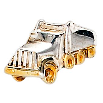 Single stud truck truck 925 silver bicolor gold plated