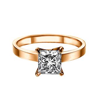 1 Carat H SI1 Diamond Engagement Ring 14K Rose Gold Solitaire 4 Prongs Classic