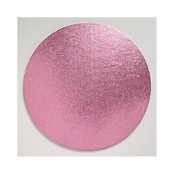 Culpitt Round Light Pink Cake Board - 16'quot; Pack of 5