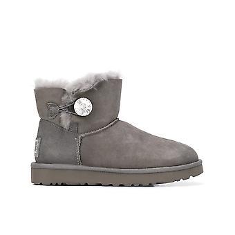 Ugg Ezcr013015 Women's Grey Suede Ankel Støvler