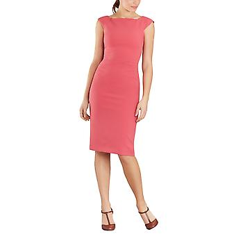 Brooks Brothers Women's Double-Weave Square-Neck Sheath Dress