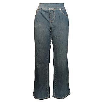 Belle by Kim Gravel Women's Petite Jeans Flexibelle Boot-Cut Blue A311352