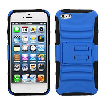 Asmyna Advanced Armor Stand Case for Apple iPhone 5/5S - Dark Blue/Black