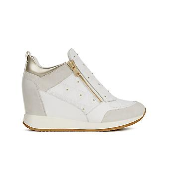 Geox d nydame hiel trainers vrouwen wit
