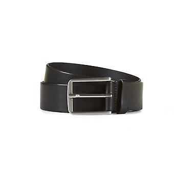 Leather jeans belt asher black