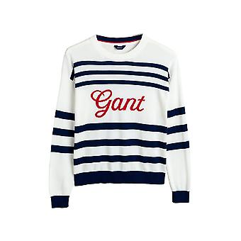 Gant Women's Stripes Logo Sweater Regular Fit