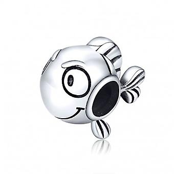 Sterling Silver Charm Clown Fish - 6612