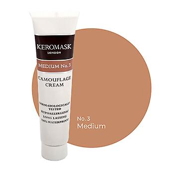 Keromask Full Cover Concealer | 24 Shades | Covers Vitiligo, Rosacea, Scars, Tattoos | Waterproof Camouflage Makeup | Medium No 3 | 15ml