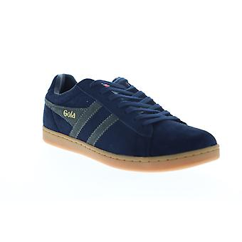Gola Equipe Suede  Mens Blue Lace Up Lifestyle Sneakers Shoes