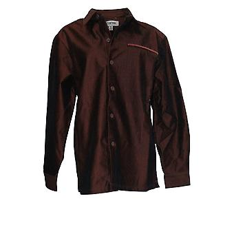 Stacy Adams Men's Button-Front Shirt Corduroy Chocolate Brown