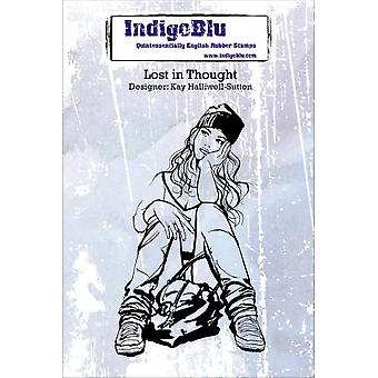 IndigoBlu Lost In Thought A6 Rubber Stamp