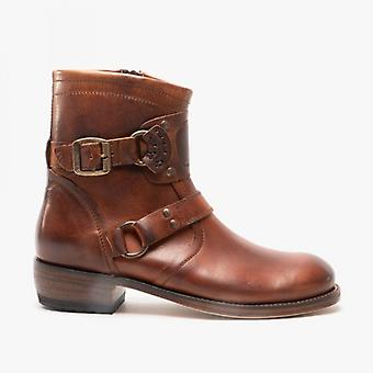 Sendra 7567 Mens Leather Biker Boots Brown