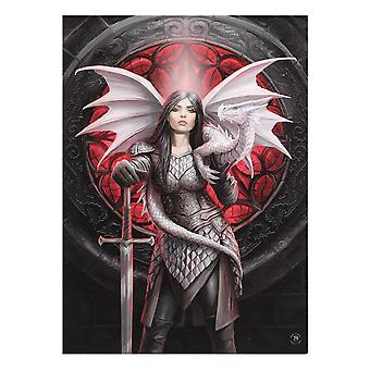 Anne Stokes Valour Canvas Plaque