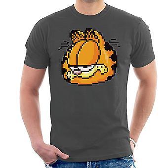 Garfield gepixeleerd SMIRK mannen ' s T-shirt