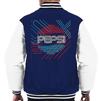 Pepsi Retro Line Art Men's Varsity Jacket