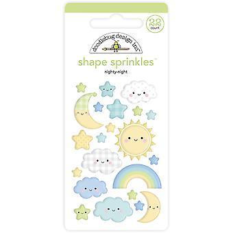 Doodlebug Design Nighty Night Shape Sprinkles (22kpl) (6761)