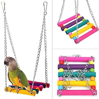Bird Swing, Parakeet Perches Hanging Cage Toy For Conures Parrots Parakeets