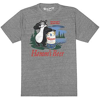 Hamm's Bear Logo Heather Grey Retro Brand Men's T-Shirt