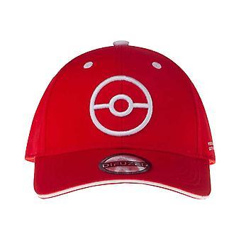 Pokemon Baseball Cap Trainer TECH Poke ball Logo new Official Red Strapback