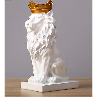 Crown Lion, Bear Statue Handicraft Sculpture Home Decor
