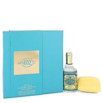 4711 Gift Set By Muelhens 3 oz Eau De Cologne Spray + 3.5 oz Soap