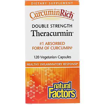 Natural Factors, CurcuminRich, Double Strength Theracurmin, 120 Vegetarian Capsu