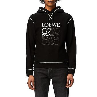 Loewe H526341xal1100 Men's Black Cotton Sweatshirt