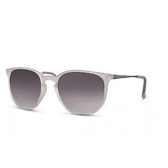 النظارات الشمسية Unisex بانتو كامل الحافة كات. 3 أبيض / دخان