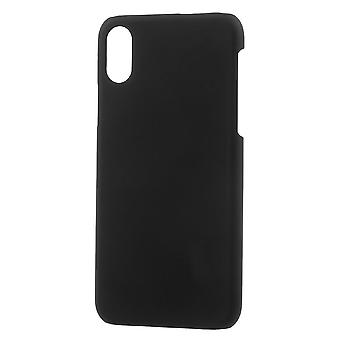 Shell for Apple iPhone X Solid Color Black Plastic Hard Case