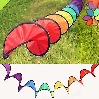 New Colorful Foldable Camping Tent Rainbow Spiral Windmill - Wind Spinner For Home Garden Decor